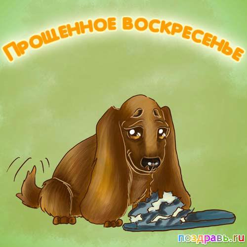 открытка с прощенным воскресеньем