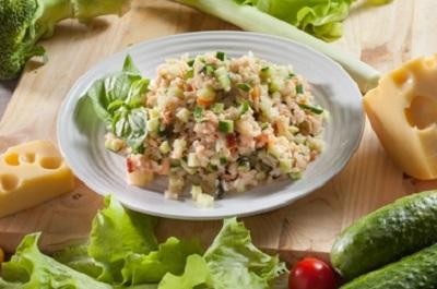 рецепт салата рыбный