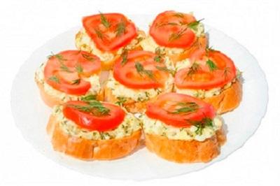 рецепт бутерброда с сыром и помидором