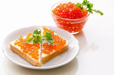 рецепт бутерброда с красной икрой