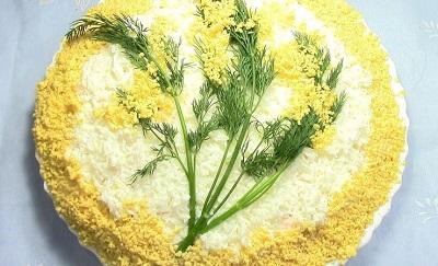 рецепт салата Мимоза